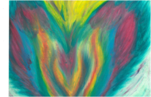 Pheonix II Oil Pastel by Shelley Lockwood